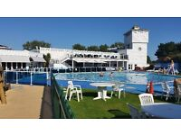 Rockley Park, Poole, Dorset. 2 bedroom static caravan, sleeps 6. 5* Haven Holiday Park, beach.