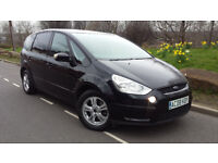 2008 08 REG' FORD S MAX ZETEC 2.0 TDCI,7 SEATER,MPV,FSH,6 SP MANUAL,MINT CON,not vauxhall/vw/renault