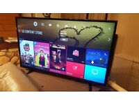 LG 49-Inch SUPER SMART 4K HDR PRO ULTRA HD LED TV, Built-in Wifi,Freeview HD,Excellent condition