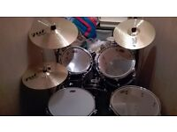 WHD DRUMKIT AND CYMBALS