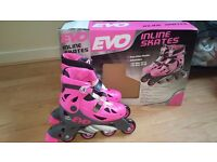 Girls Inline skates adjustable Size 13-3 . almost New, used only for 10 minutes