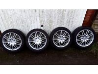 Honda Accord 17 inch 5x114.3 alloy wheels with 225/45/17 winter tyres