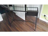 Ikea glass and metal desk