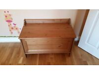 Ikea Leksvik Wooden Solid Pine Chest, Storage Box, Bench