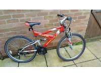 Bike red yellow suspension