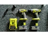 Ryobi One + Impact driver + 2x5.0ah Batteries + Charger