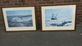 Two large prints by Stephen Dews