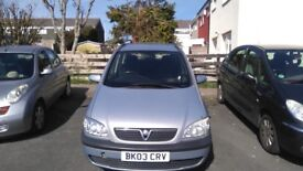 VAUXHALL ZAFIRA 7 SEATER IN GOOD CONDITION