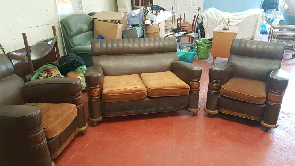 1930 S Art Deco Sofa And 2 Chairs In Swansea Gumtree