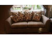 2x three seater sofas