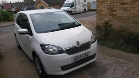 Skoda Citigo white 3 door car, only one careful owner