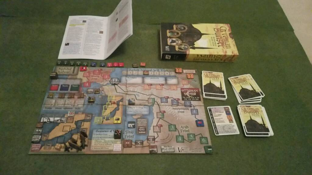 ottoman sunset victory point games solitaire board game in boldon
