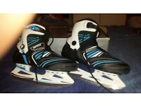Mens uk size 10 ice skates worn once and still boxed. Would make good present!