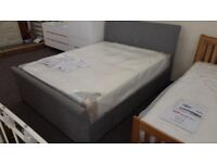 Julian Bowen Capri Grey Fabric King Size Bed 2 Storage Drawers (BED ONLY) **Can Deliver**