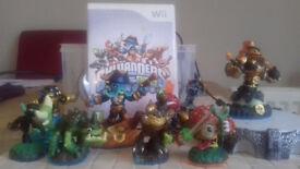 Wii Video Game Skylanders with characters to change via 'portal'
