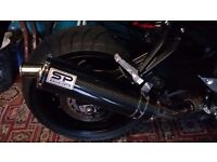 YAMAHA FZ8 / Fazer 800 sports exhaust silencer and link pipe excellent condtion