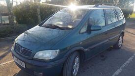 2002 Vauxhall Zafira 1.8 i Elegance AUTO GEAR BOX 7 SEATER NEW MOT