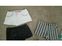 Shorts all size 8/10