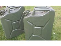 Two Heavy Duty 20 litre Jerry Cans