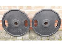 20KG HEX OLYMPIC WEIGHT PLATES