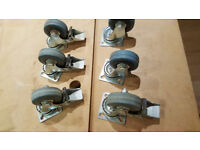 Heavy duty castors, 12
