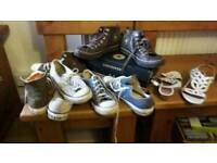 CONVERSE SHOES size 6/7 £20.00 the lot .
