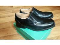 Clarks Black Leather Shoes uk9/eu43