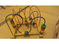 Wooden bead toy for baby