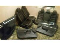 Complete Genuine Leather Interior Seats Trim From a 2007 Golf R32 Steering Airbag