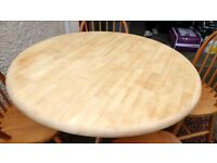 Ikea round wooden table and 4 chairs