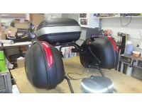Top box, panniers and tank bag, givi