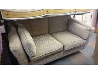 Marks & Spencer 2 seat sofa flowery reflective material