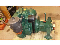 Lister boat engine with gearbox, Petter AC1. air cooled