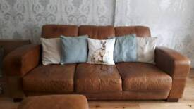 Leather sofas **reduced** pickup asap