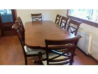 Magnificent Charles Barr table and 8 chairs