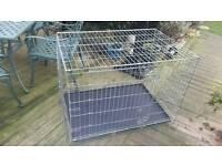 Large galvanised dog cage
