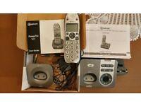 Amplicomms Powertel cordless big button phone mega-bundle - hearing aid compatible
