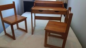Nursery desk and two matching chairs