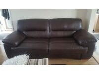clayton 3 seater sofa and 2 seater sofa real leather from oaklands