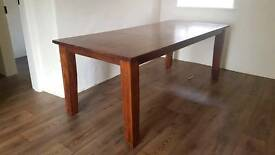 Large stylish rustic solid oak kitchen dining room table