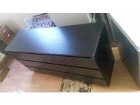 Ikea Malm - black 6 drawer