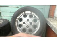 set of five old ford alloys open to offers