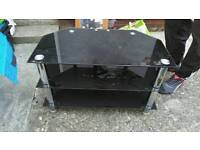 Black glass Tv stand up to 32""