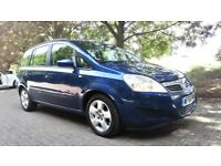 **LOW MILEAGE** 2008 VAUXHALL ZAFIRA 1.6i EXCLUSIVE 7 SEATER MPV **12 MONTHS MOT+RECENT SERVICE**