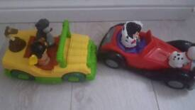 Disney Jungle Book and 101 Dalmatian toys