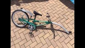 "Childs Tag a Long, Good condition. Serviced. 20"" Wheel. Free rear light."