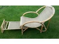2 cane lounge chairs