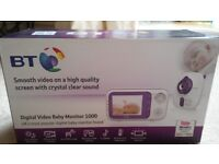 BT Digital Video Baby Monitor 1000 good condition with box.