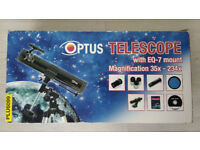 Optus EQ-7 telescope