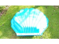 Blue Clam Shell Sandpit Paddling Pool